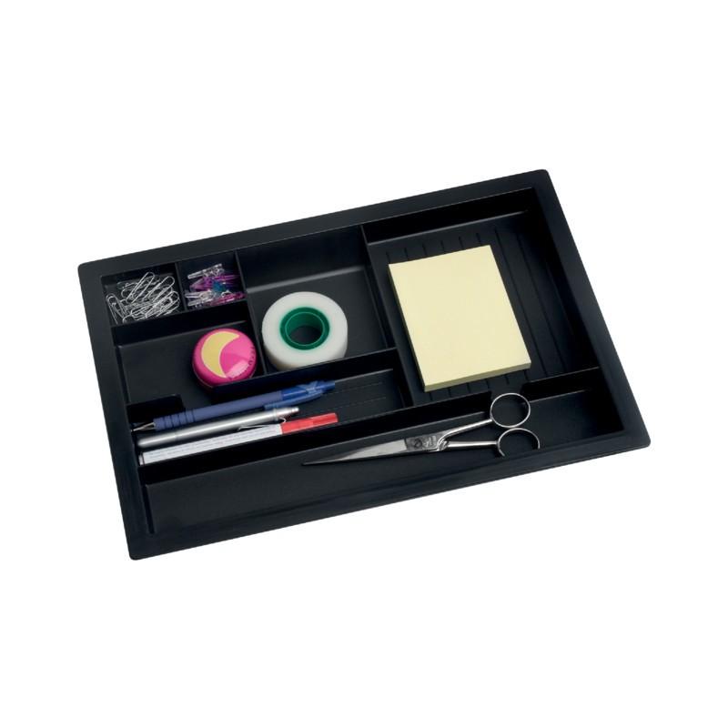 Bisley pennenbakje inzet kunststof zwart for Ladenblok kunststof