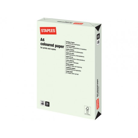 Papier SPLS A4 160g lichtgroen/pak 250v