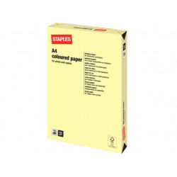 Papier SPLS A4 120g kanariegeel/pak 250v