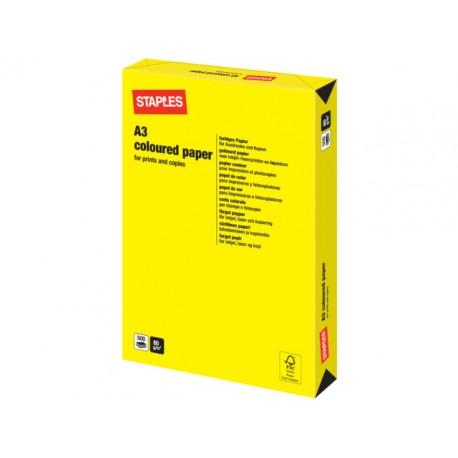 Papier SPLS A3 80g geel/pak 500v
