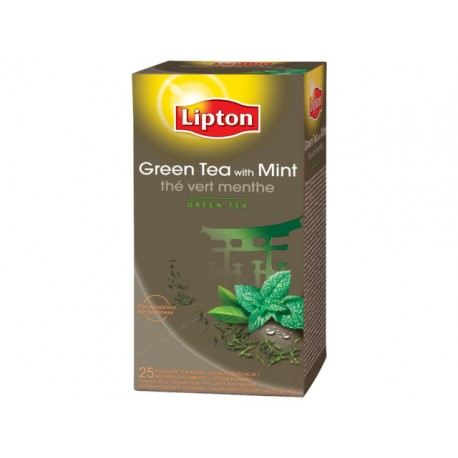 Theezakje Lipton1,6 gr green mint/ds6x25