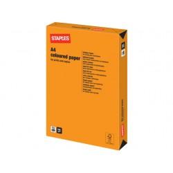 Papier SPLS A4 160g oranje/pak 250v