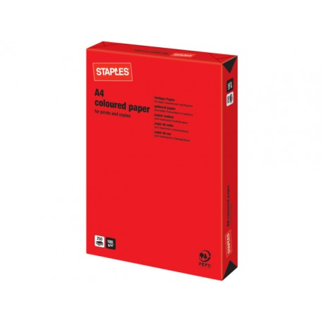 Papier SPLS A4 160g rood/pak 250v