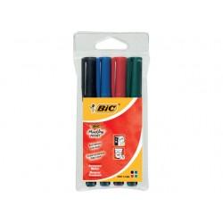 Permanent marker BIC Pocket 1445 ass/pk4