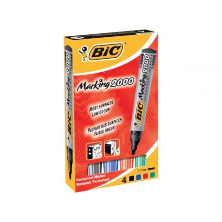 Permanent marker BIC 2000 assorti/etui 4