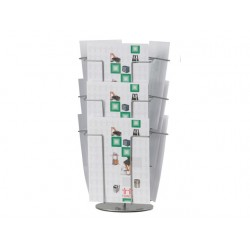 Folderrek Twinco 9 compartimenten grijs