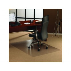 Stoelmat Floortex tapijt 120x90cm trans