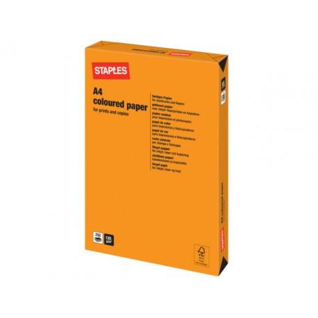 Papier SPLS A4 120g oranje/pak 250v