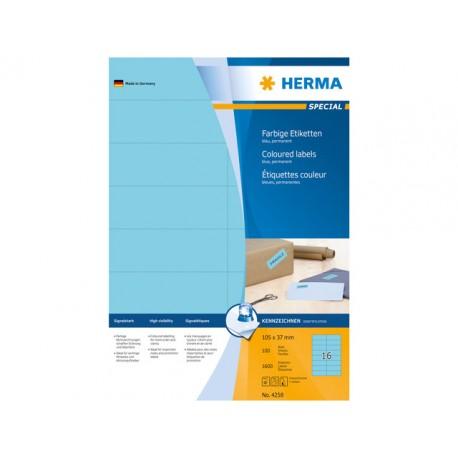 Etiket Herma ILC 105x37 blauw/pk 1600