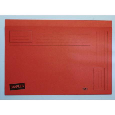 Vouwmap SPLS A4/folio zuurv. oranje/d100