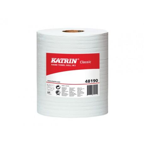 Handdoekrol M Katrin 2lgs wit pk/6x152m
