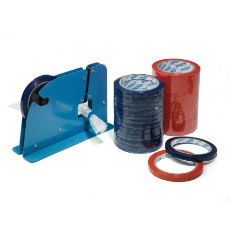 Verpakkingstape 9mm rood/pk 16rol
