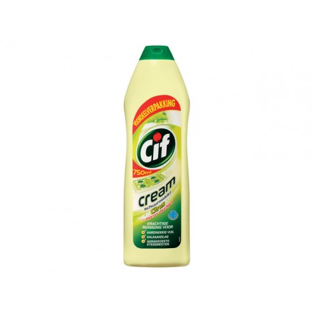 Schuurmiddel Cif cream citroen/pk2x750ml