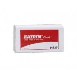 Handdoek Katrin C-fold 2l wit bx/24x100v