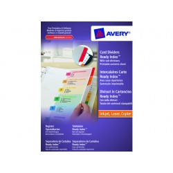 Tabblad Avery A4 9R Readyindex/set 6+24