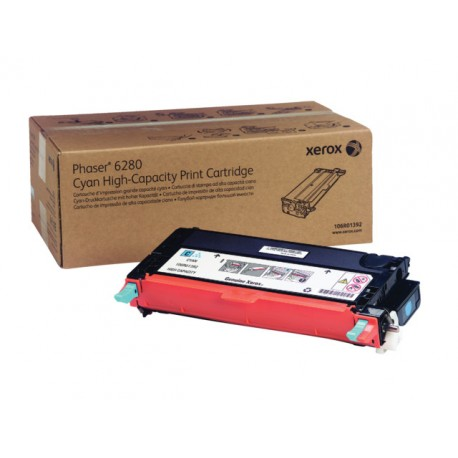 Toner Xerox Phaser 6280 6K HC cyan