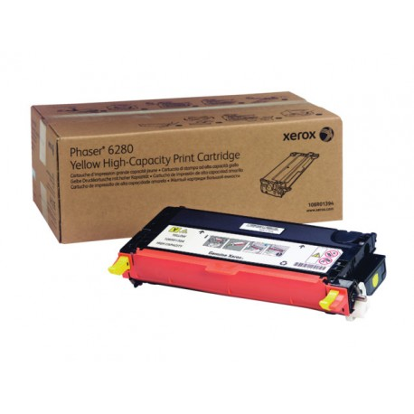 Toner Xerox Phaser 6280 6K HC yellow
