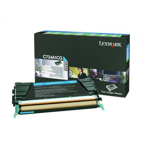 Toner Lexmark C734 Ret C734A1CG 6K cyan