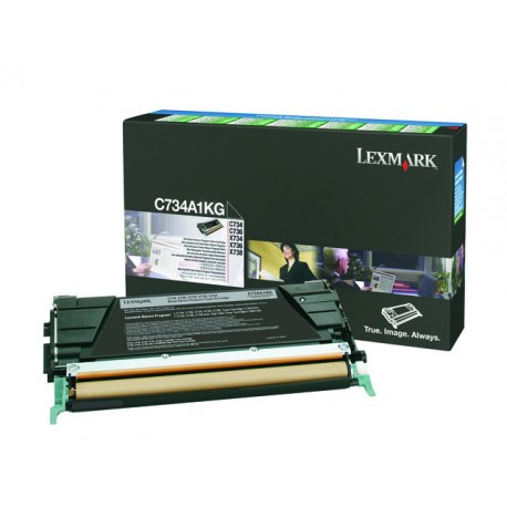Toner Lexmark C734 Ret C734A1KG 8K zwart