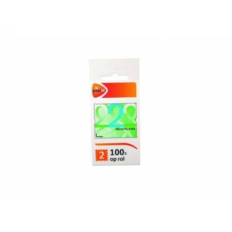 Postzegel NL waarde 2 zelfkl/rol100