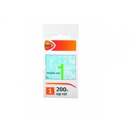 Postzegel NL waarde 1 zelfkl/rl200