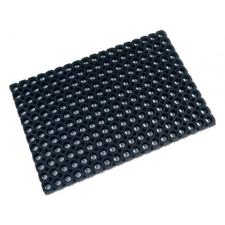 Deurmat Floortex rubber 60x80cm zwart