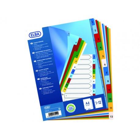 Tabblad ELBA A4XL 11R PP 1-12 kleur/se12