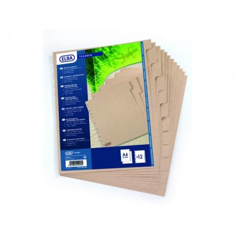 Tabblad ELBA Touareg A4 11R karton/set10