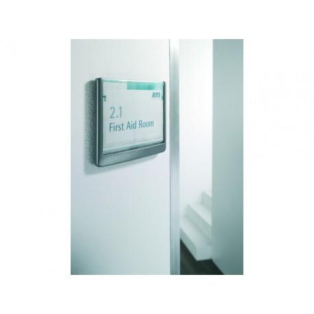Deurbord Click sign 149x145,5mm zilvergr