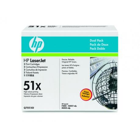 Toner HP Q7551XD zwart 2 x 13K /doos 2