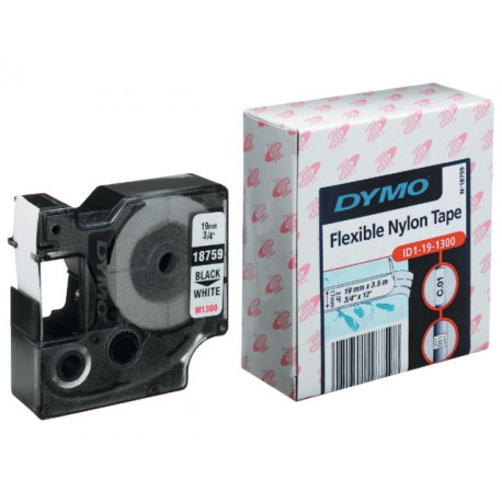Tape Dymo Rhino 19mm nylon wit