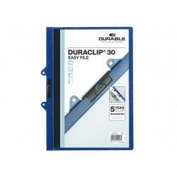 Klemmap Duraclip EasyFile A4 d.blauw/d25