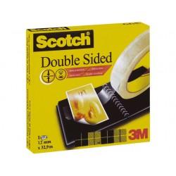 Plakband dubbelzijdig Scotch 12mmx33m