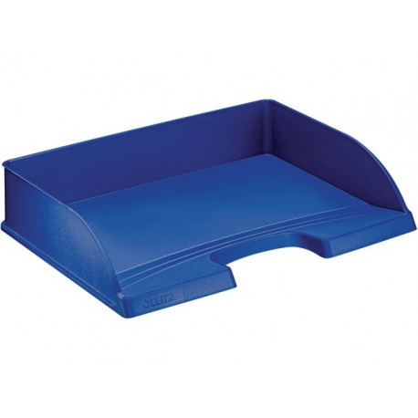 Brievenbak Leitz Plus folio dwars blauw