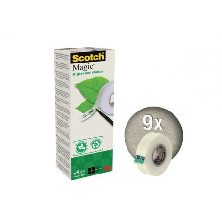 Plakband magic Scotch 900 19mmx33m/pak 9