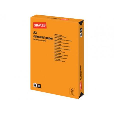 Papier SPLS A3 80g oranje/pak 500v