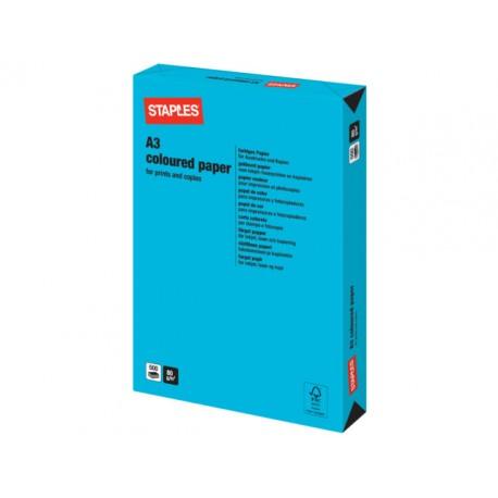Papier SPLS A3 80g azuurblauw/pak 500v