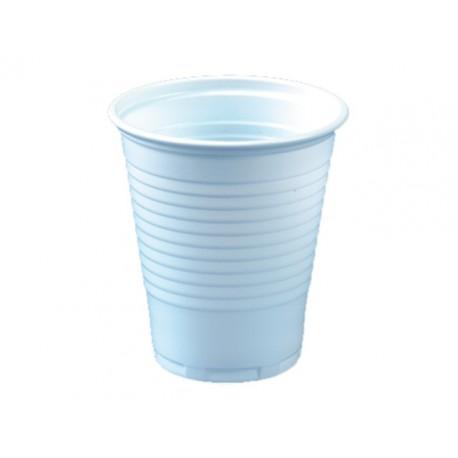 Drinkbeker kunststof 150cc wit/ds30x100