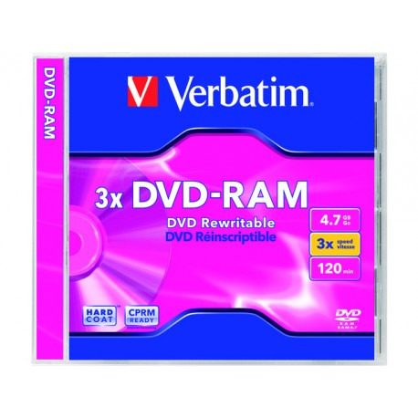 DVD-RAM RW Verbatim 4,7GB sl /pak3