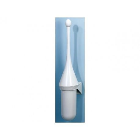 Toiletgarnituur muurbevest kunststof wit