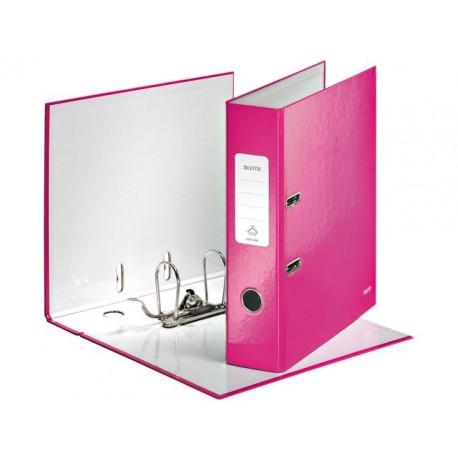 Ordner Leitz WOW 80mm A4 karton roze