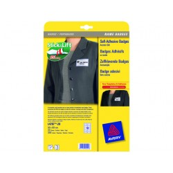Naambadge Avery 50x80mm kader bl/pk200