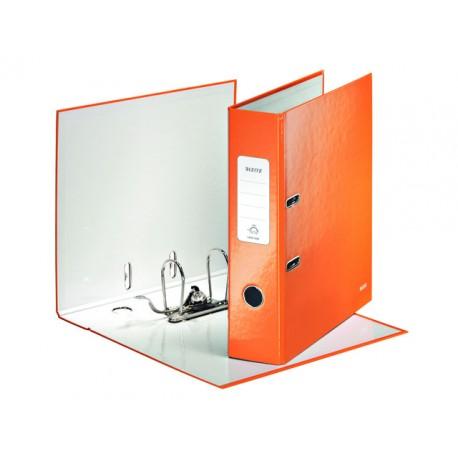 Ordner Leitz WOW 80mm A4 karton oranje