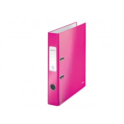 Ordner Leitz WOW 50mm A4 karton roze