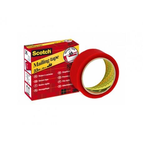 Verzegeltape Scotch 820 35mm x 33m rood