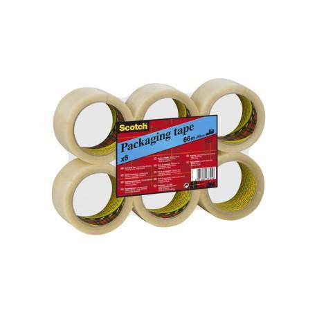 Verpakkingstape Scotch 50mmx66m PVC tr/6