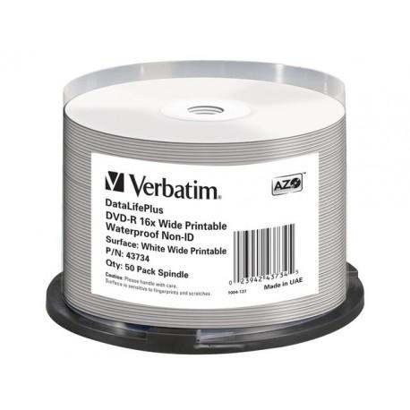 DVD-R Verbatim AZO Print.Waterproof/pk50