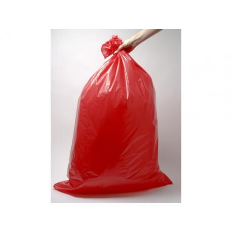 Afvalzak 58x100cm ldpe 45mu rood/ds10x20