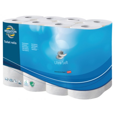Toiletpapier BRPR 2lgs wit/pk24x350vel