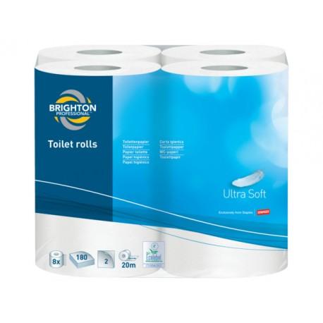 Toiletpapier BRPR 2lgs wit/pk8 x 180vel